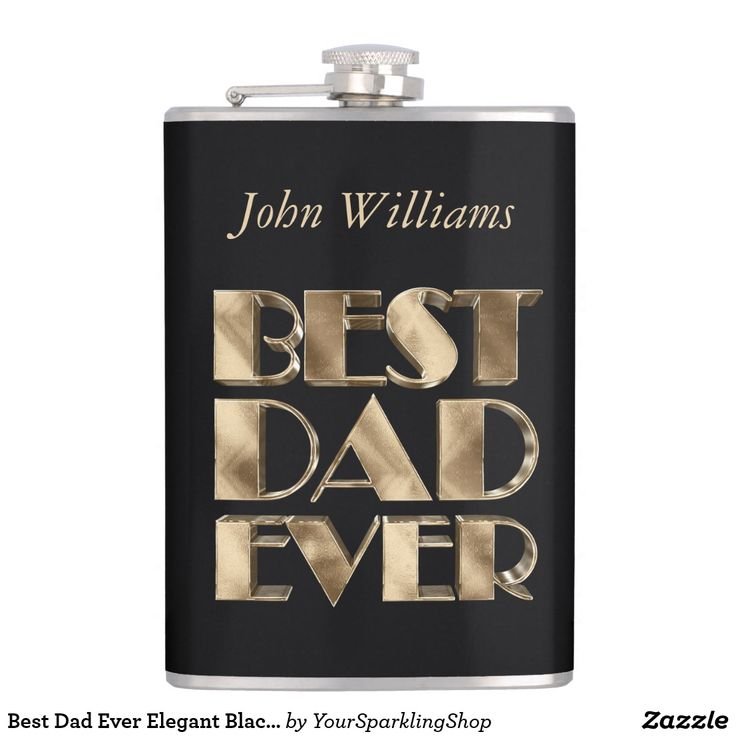 Best Dad Ever Elegant Black Gold Typography