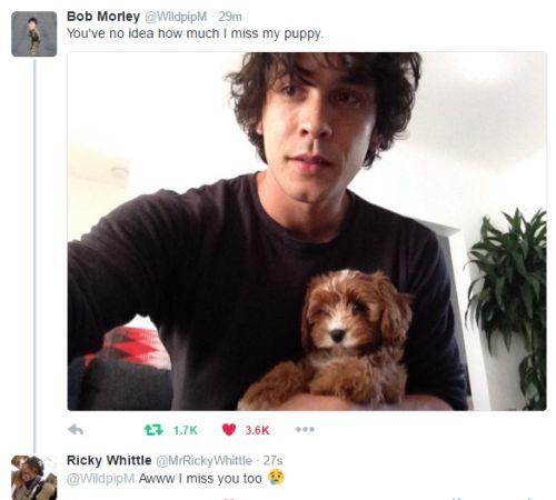 Bob Morley and Ricky Whittle || The 100 cast on twitter || Bellamy Blake and Lincoln kom Tri kru || Vanfam