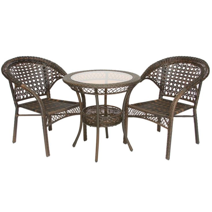 Amazon.com : Best Selling Wicker Bistro Set, 3 Piece : Outdoor And