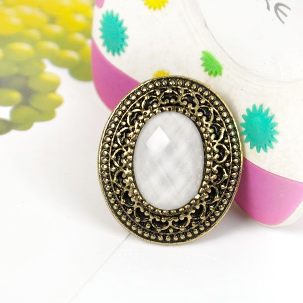 White Gem Statement Ring