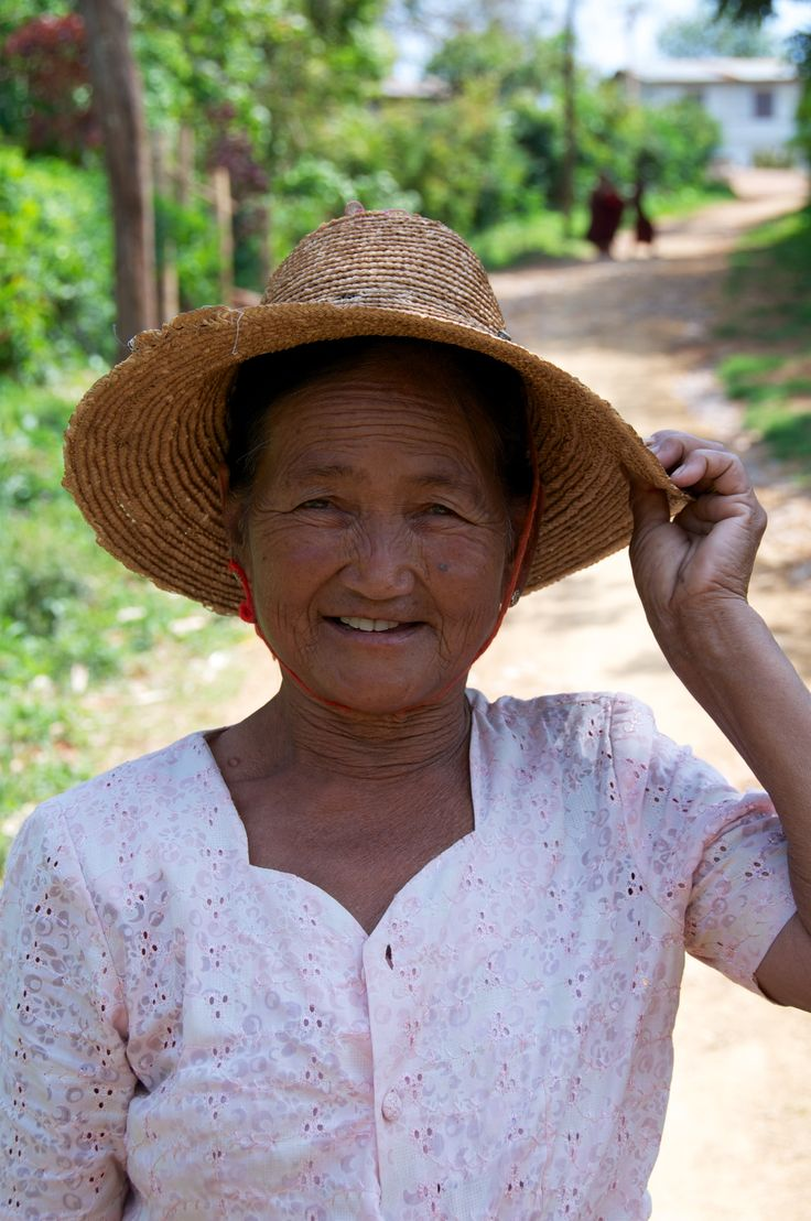 Friendly local villagers around Inle Lake, Myanmar