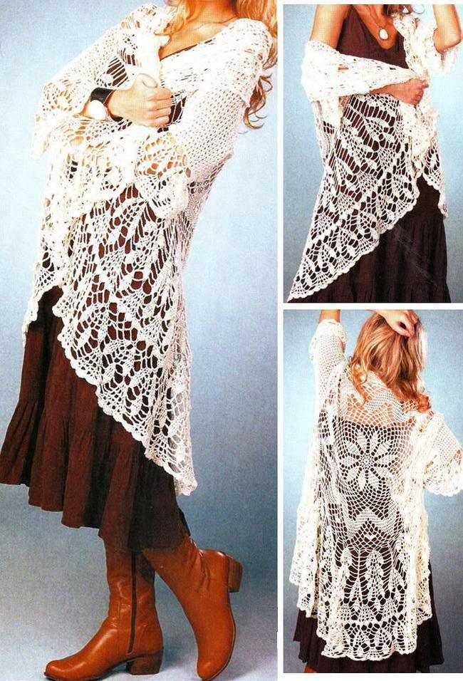 """Crochet Lace Sweaters That Will Make People Say """"Oooo""""!"""
