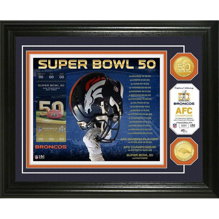 Denver Broncos Super Bowl 50 Bronze Coin Photo Mint