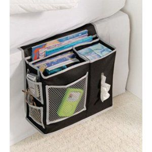 I've seen these for cribs and kids beds, why didn't I think of it for MY bed, what a great idea! ~