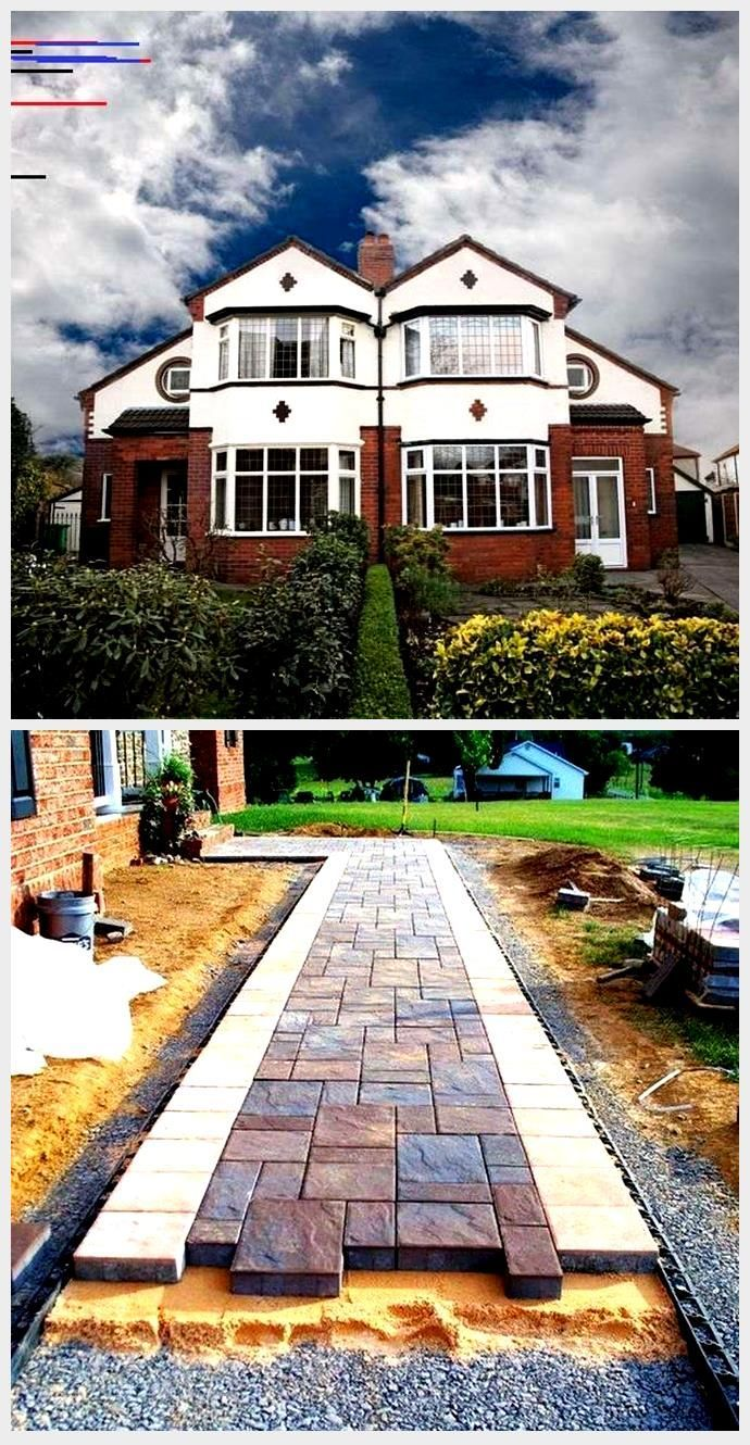 Front Garden Driveway Ideas For Terrace Semi Detached And Detached Houses Detac Detach Detach Detached Dr Front Garden Semi Detached Detached House