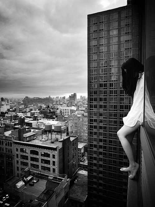 black and white, dark, decision, depression, girl, help me, me, pain, painful, pale, sad, sadness, suicide, suicide girl, jump?, agc12
