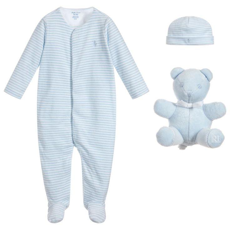 3 piece babygrow gift set for boy by ralph lauren