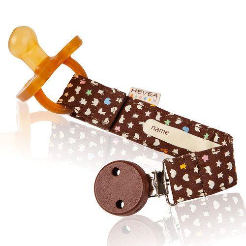 HEVEA Schnullerband aus Bio-Baumwolle Chocolate   Babyartikel.de
