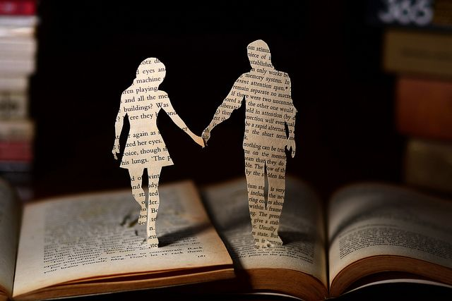 Different pages; same story.: Real People, Cutout, Hold Hands, Books Art, Bookart, Books Boyfriends, Books Lovers, Wedding Cakes Toppers, Cut Outs