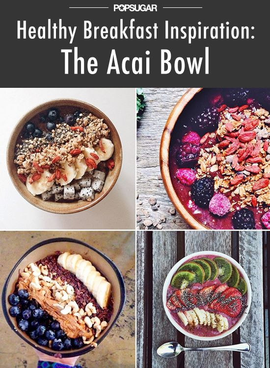 Açai bowls for breakfast