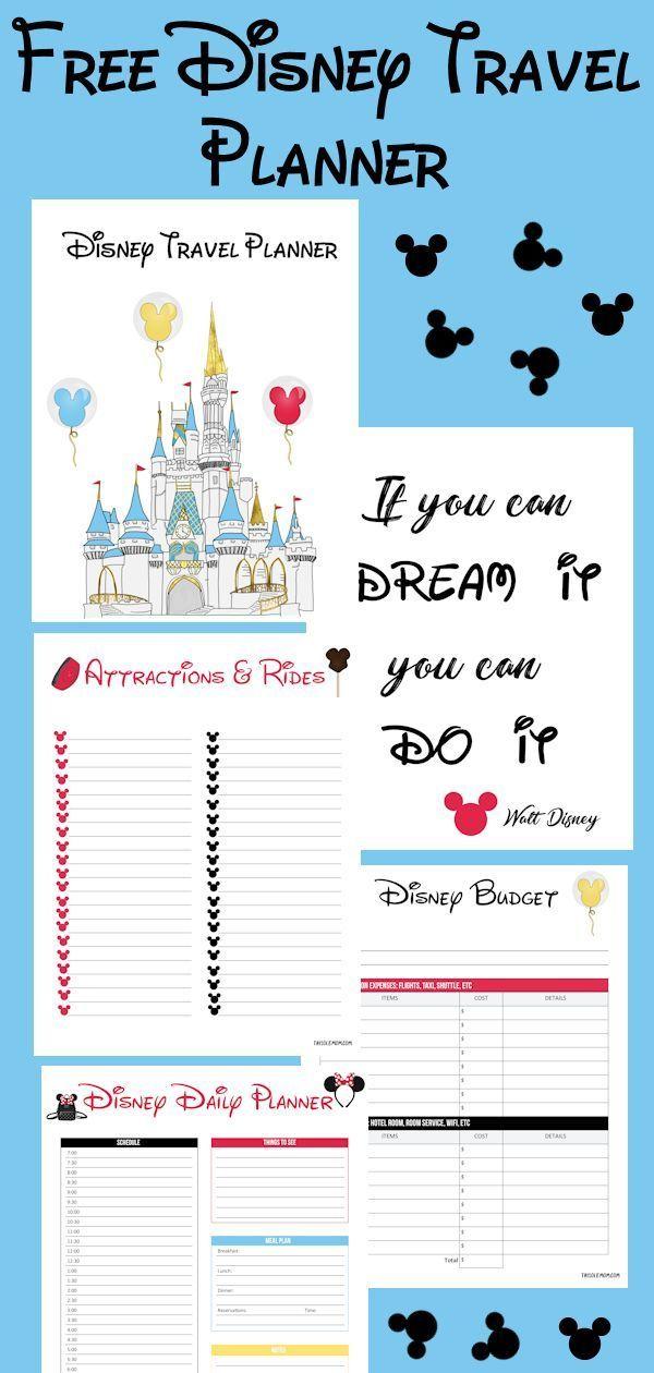 Disney Travel Planner Disney Planner Disney Vacation Planner Disney Planning Printables