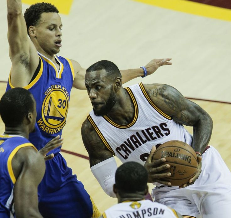 Cleveland Cavaliers' LeBron James drives in the first period during Game 6 of The NBA Finals between the Golden State Warriors and Cleveland Cavaliers at The Quicken Loans Arena on Tuesday, June 16, 2015 in Cleveland, Ohio.