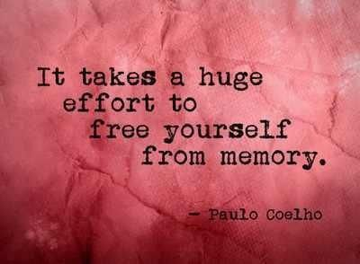 It takes huge effort to free yourself from memory