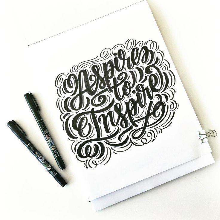 Aspire to inspire! #creativelife #handlettering #brushlettering #goodtype #brushtype #brushpen #tombow #tombowusa #letteringdaily #letteringbymaia #create #strengthinletters