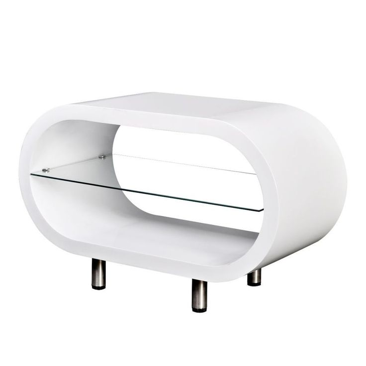 Oval Coffee Table Modern Design Living Room Furniture High Gloss White TV  Stand