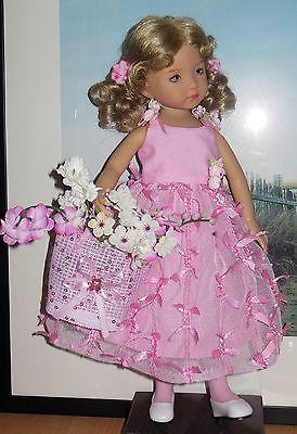 "May Days Pink Ribboned Tulle Party dres Designed for 13"" Effner Little Darling | eBay. Ends 5/10/14."