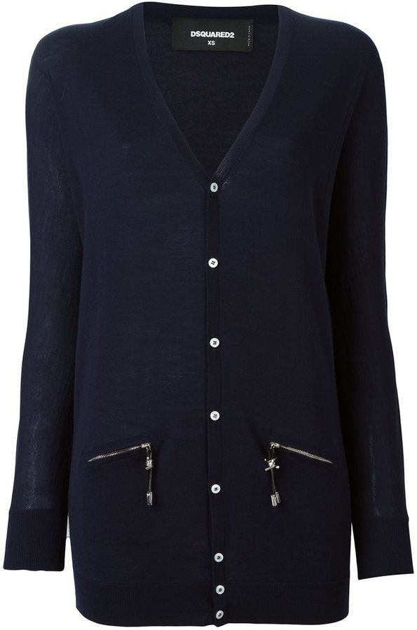 Dsquared2 long pullover cardigan