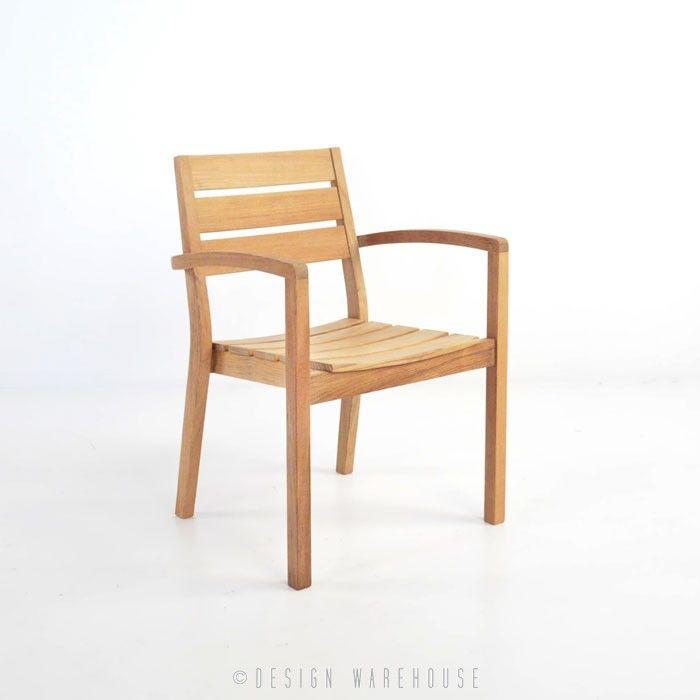 Horizon Teak Stacking Dining Arm Chair | Design Warehouse NZ