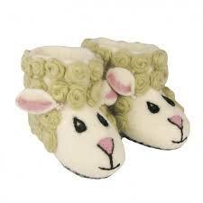 Vilten pantoffels schaap