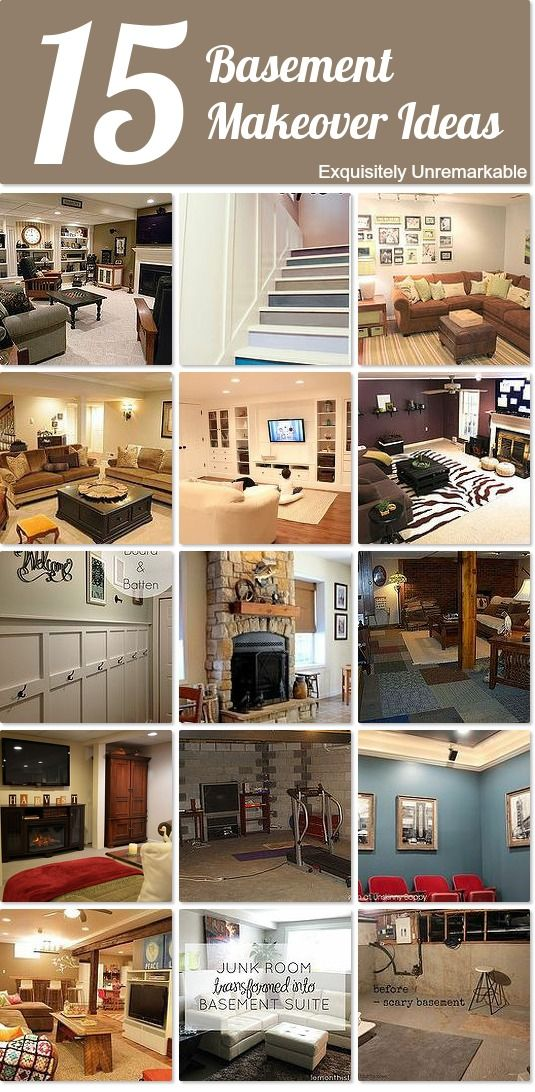 With the right inspiration a basement makeover can transform an ugly space into a beautiful space in your home.