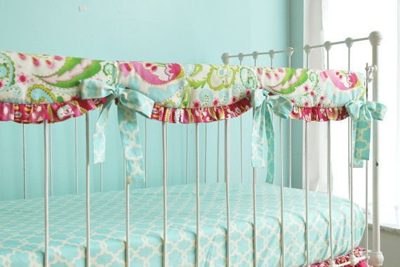 Bumperless Kumari Garden Baby Bedding Crib set