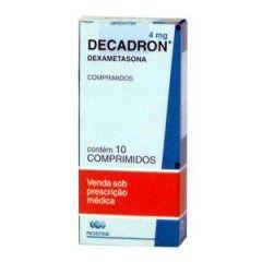 Decadron ou Decadronal é um medicamento que é usado para tratar diversos tipos de infecções alérgicas e inflamatórias, além de doenças de glicocorticoides.  A sua composição é de Acetado de Dexametasona que é um Adrenocorticosteroide Sintético, é recomendado o seu uso de 3 maneiras:  Intramuscular Intra-Articular Instralesional(Direto na Lesão)