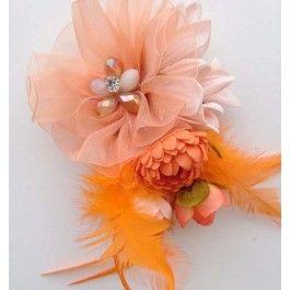 Koningsdag oranje bloemcorsage | PW Hoofs oranje accessoires