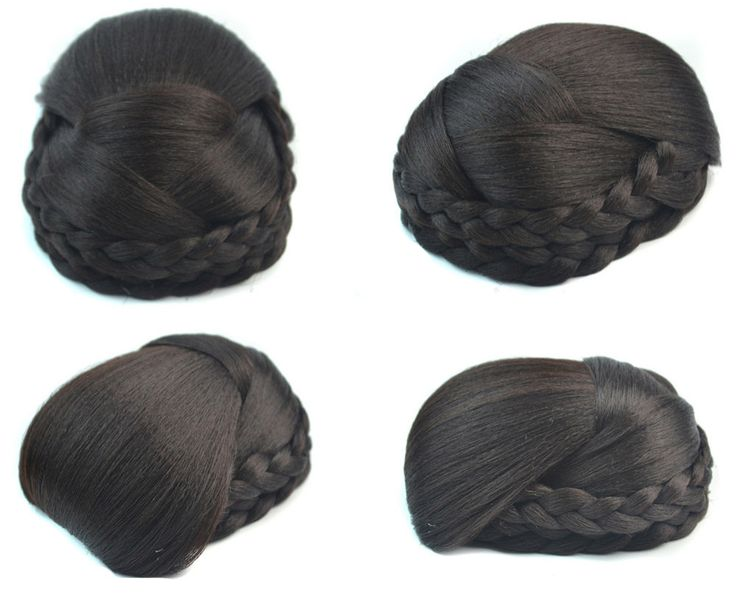 Q48   Synthetic hairbuns chignons color of 4# clip in hair bun