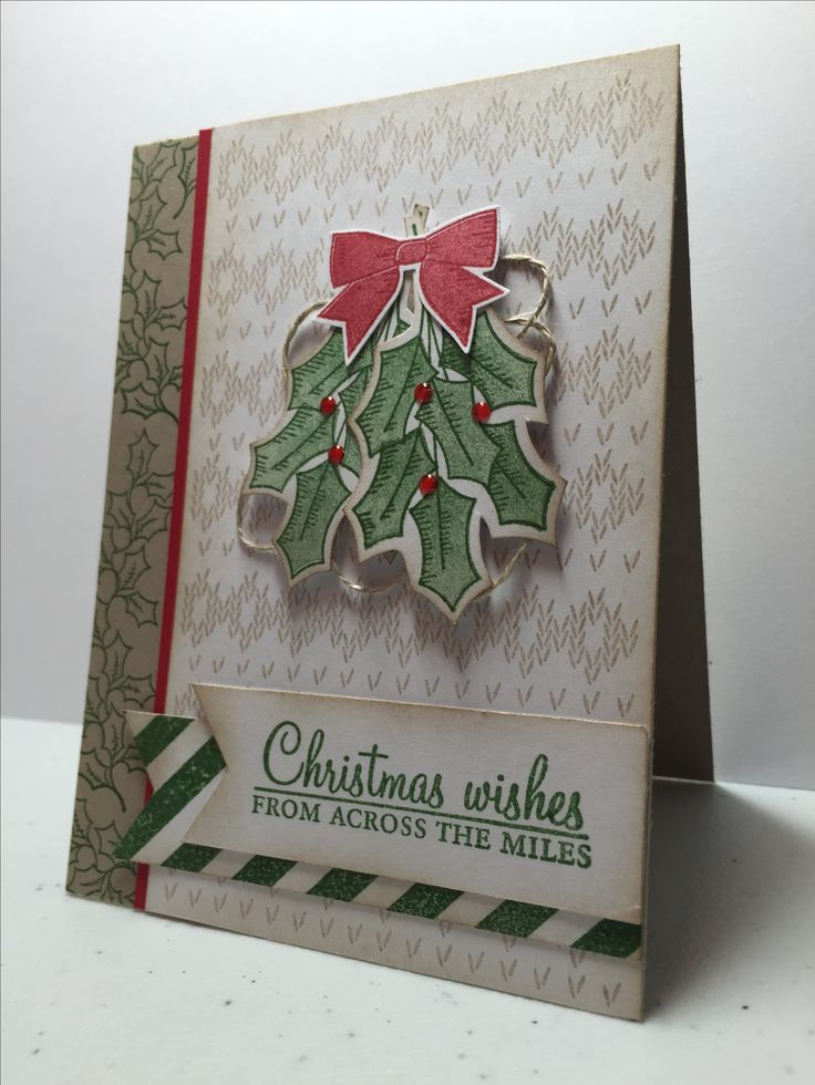 Stampin Up stitched with cheer and holly berry happiness, Kristy McNiven