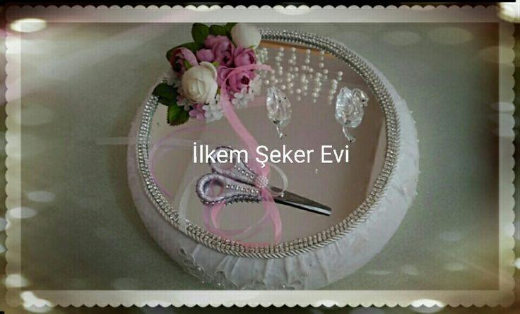İlkem Şeker Evi'nin son tasarımı. Nişan tepsisi. Toptan ve perakende satışlarımız mevcuttur İletişim WhatsApp 05357137560 #İzmir