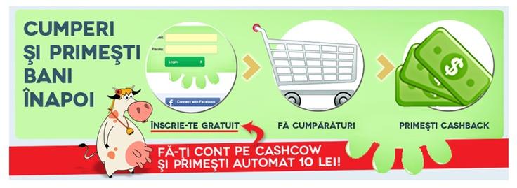 Te inscrii pe CashCow si primesti automat 10 lei in contul tau de pe site!