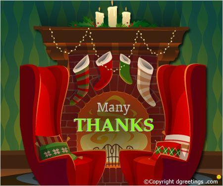 Send your X'mas thank you message through this card.