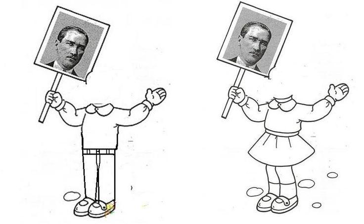 çocukların resimleri yapıştırılacak