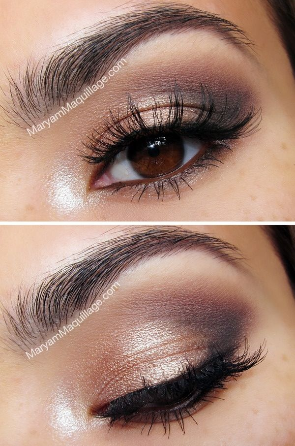 Daytime Natural Smokey eye using Urban Decay Naked 2 Palette - great for brown eyed girls.