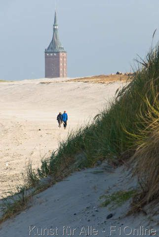 Beach and Westturm on Wangerooge, Germany