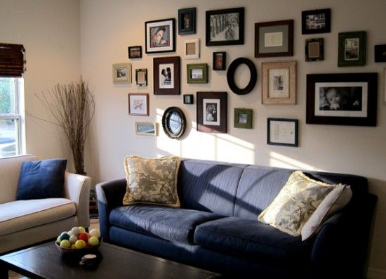 I clicked this story for this wall-of-picture frames, but the whole house is gorgeous. Shabby-chic and vintage without looking junky.