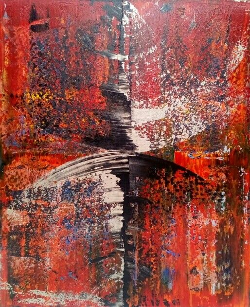 Sever 39x47x1.5in Bali collection #9 acrylic on canvas by Robert Martin abstracts