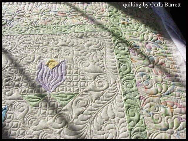 Baby quilt with beautiful quilting