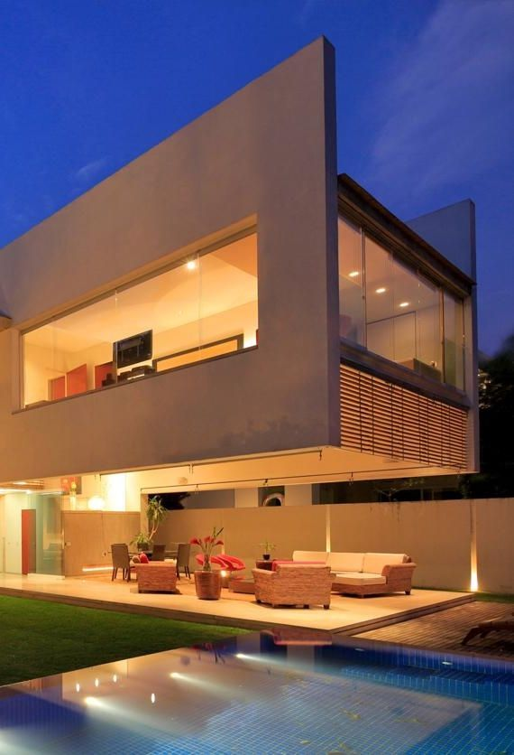 Godoy Residence is incredible modern home with impressive cantilever floor above the terrace and more awesome modern architecture features. Take a look..