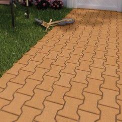 Chemins Allees Et Bordures Pave De Jardin En Beton De Couleur Ocre Forme En I Autobloquant Pour Terrasse Jardin En Beton Paves De Jardin Paves Exterieur