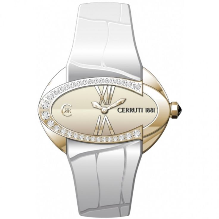 Montre Cerruti  - Femme  -Cadran en acier -Bracelet en cuir