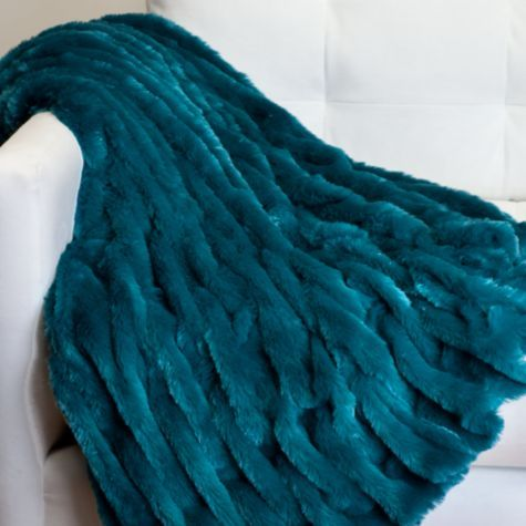 Lazo Throw - Peacock | Throws | Bedding & Pillows | Z Gallerie; Bedroom