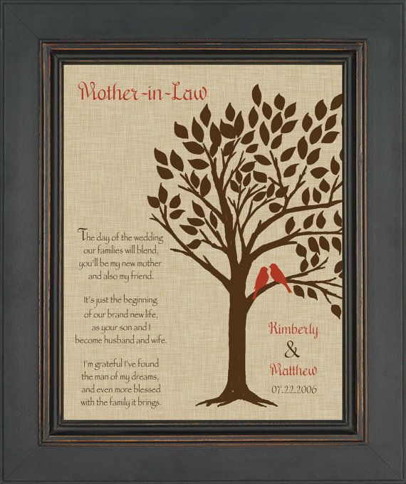 Mother Wedding Gift Ideas: Wedding Gift For Mother InLaw Future Mom By