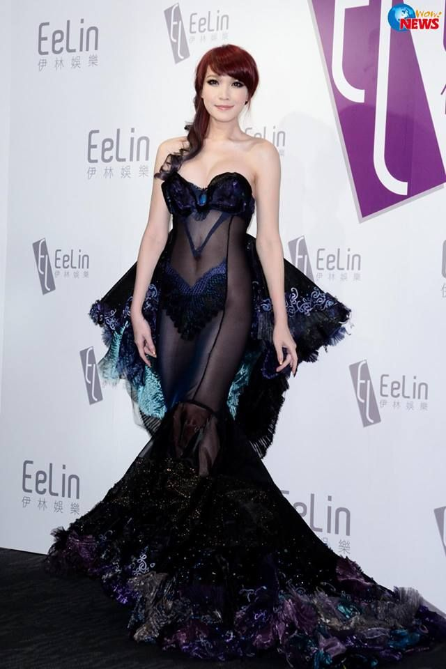 Alicia Liu from Taiwan wear this during the Annual Dinner..what do you think? Besides, she is a transsexual model