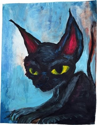 I absolutely LOVE this cat. Painting by Marilyn Manson