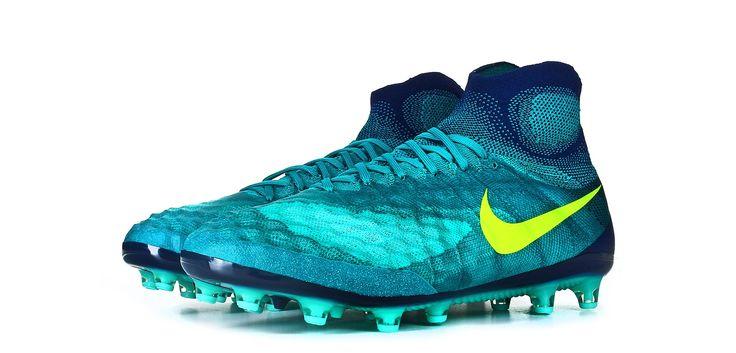 Botas de fútbol Nike Magista Obra II AG-PRO - Verde Azulado - perspectiva conjunto