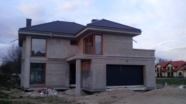 Widok frontu Riwiera 4  #front #dom #projekt