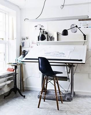 Drawing desk. Love the setup.