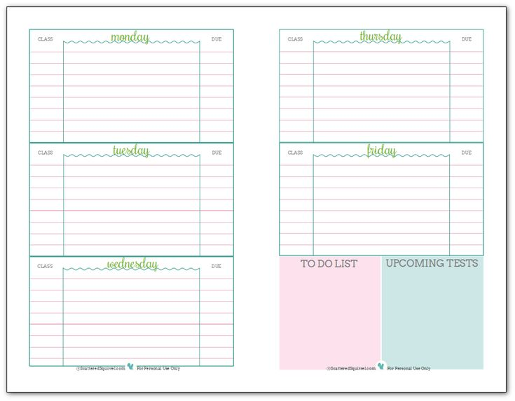 Best  Student Planner Printable Ideas On   Study