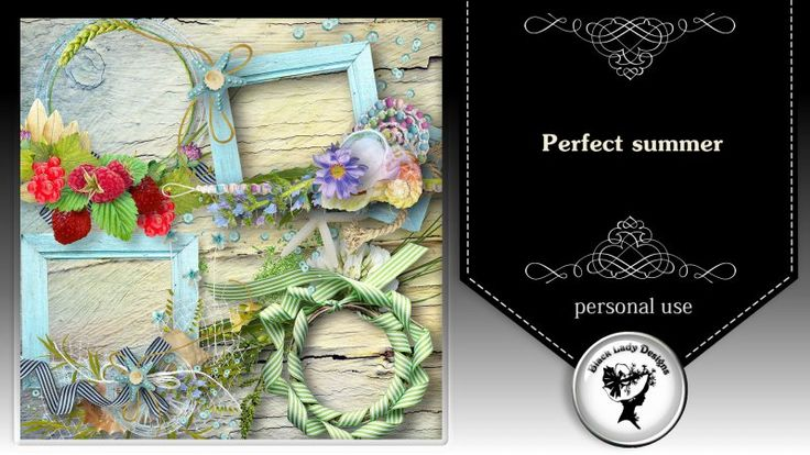Perfect summer - frames by Black Lady Designs